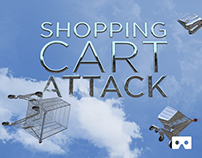 Shopping cart attack - 360 VR Video