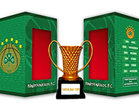 Box design for Panathinaikos B.C. trophies souvenirs.