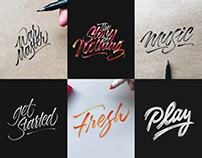 Lettering Collection 2016 - Brushpen