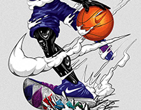 NIKE / KYRIE 5 / T-SHIRT ILLUSTRATION SERIES
