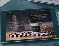 Coffee shop landing header
