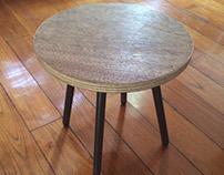Metalworking - Metal + plywood stool