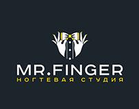 """Logo design for the nail studio """"Mr. finger"""""""