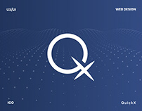 Quickx - ico website & visual data presentation design