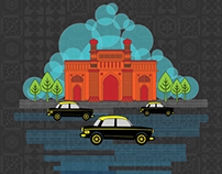 Mumbai city Illustrations
