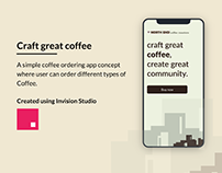 Coffee ordering app concept