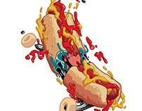 Hotdog skate