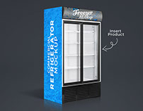 Free Commercial Refrigerator Freezer Mockup PSD