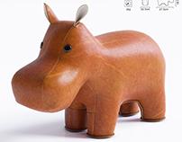Zuny - Classic Hippo Bookend
