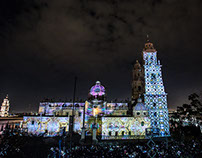Illustrations for mapping projection Morelia Music Fest