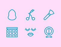 Beauty & Makeup Line Icons