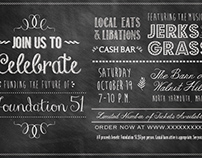 Chalkboard Event Invitation