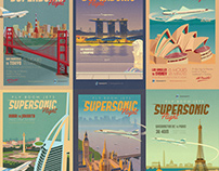 Vintage Travel Posters - Supersonic Flight
