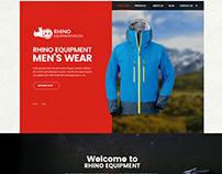 Web Design for an outdoor gear store