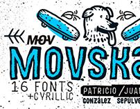 MOVSKATE typography
