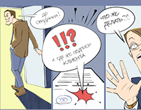 Comic strip for corp. Raiffeisen Bank magazine.
