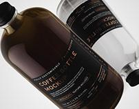 32oz Boston/Coffee Bottle Mockup+Free Sample
