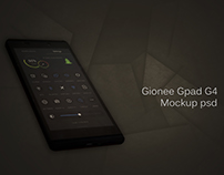 Gionee Gpad G4 Free PSD Mockups