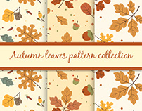 Autumn leaves pattern collection