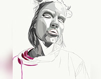 drawing on mobile phone , (Adobe Illustrator draw app)