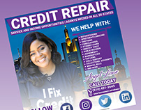 I will create Credit Repair flyer, business flyer