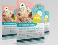 Pet Grooming Salon Flyer Template