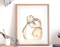 Otterly Addicted to You Art Prints