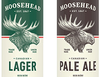 Moosehead Beer Brandmark illustrated by Steven Noble
