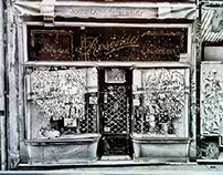 """Joyería Rosende"" BIC ballpen drawing."