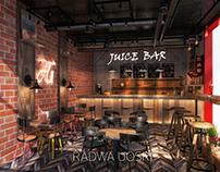 Industrial designed juice bar