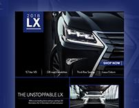 Lexus LX Landing Page