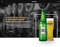 Homepage Heineken Brasil