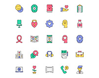 Psychologist Icons Set