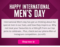 Superdrug Email Marketing - International Men's Day