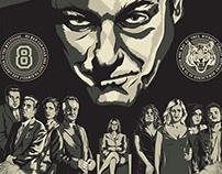 The Sopranos Illustrated Screen Printed Poster