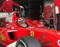 #F1—Luis Pérez Companc giró con la Ferrari Schumacher