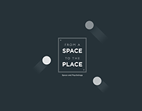 From Space to the Place - Poster & Editorial Design