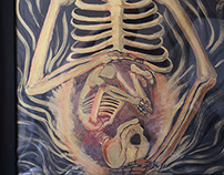 """Birth of Death"" Acrylic painting"