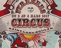 Pyrénées Circus Art Direction Poster