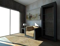 small reading corner