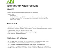 ARI Project Part 3 - Information Architecture