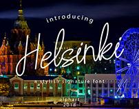 Helsinki a stylish signature font #fontself