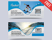 Snowboard Rental – Free Gift Certificate PSD Template