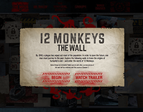 "12 Monkeys ""The Wall"" Microsite Design"