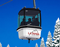 La Tania Ski Poster