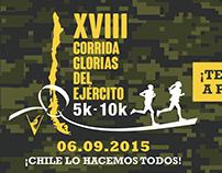 Afiche y Flyer Corrida Glorias del Ejército 2015