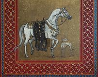 """""""Arabian horse and sloughi dog"""""""