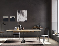 Grey Wall interior scene