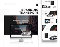 Web-Design Landing Page. Branding Transport.