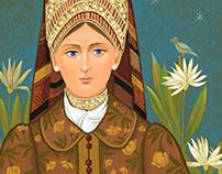 Слушая соловья.Listening to the nightingale. graphics